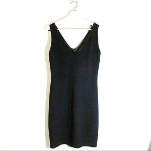 St. John Evening | Dress LBD V-Neck Size 8